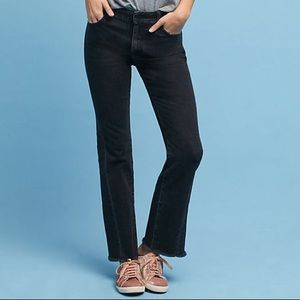 Anthropologie High Rise Flare Crop Jeans Size 30